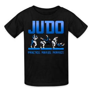 Kids' T-Shirt - Judo Design revealing the throw Ippon Seoi-Nage Practice Makes Perfect