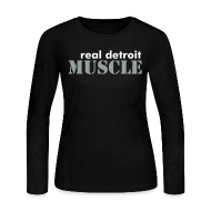 Long Sleeve Shirts ~ Women's Long Sleeve Jersey T-Shirt ~ Women's long sleeve RDM with I Love Muscle