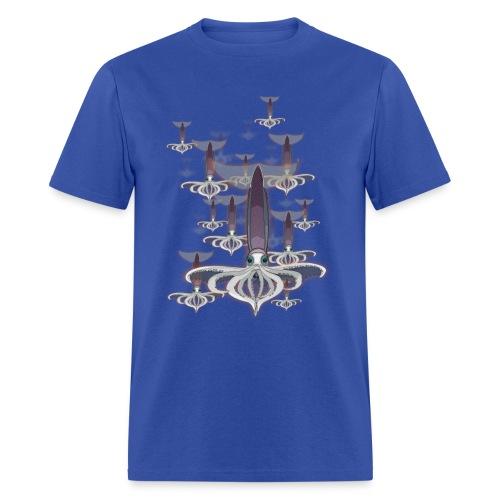 cloud of squid - Men's T-Shirt