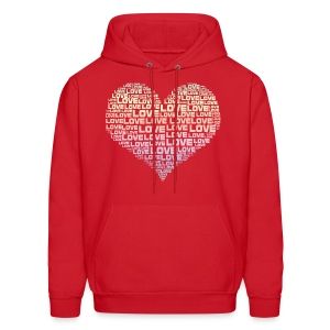 One Heart Big Love Men's Hoodie - Men's Hoodie