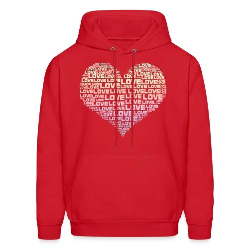 One Heart Big Love Men's Hoodie - Men's Hoodie