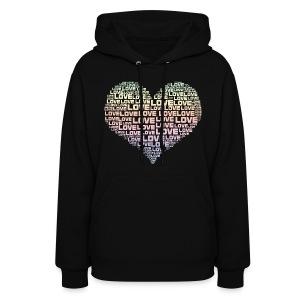 One Heart Big Love Women's Hoodie - Women's Hoodie