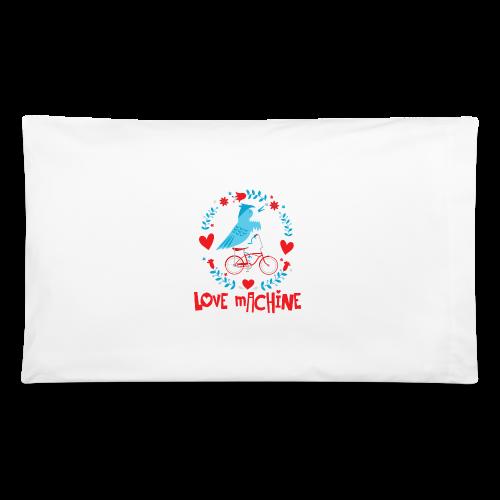 Love Machine Bird Riding Bicycle - Pillowcase
