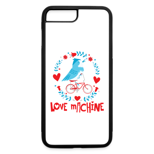Love Machine Bird Riding Bicycle - iPhone 7 Plus/8 Plus Rubber Case