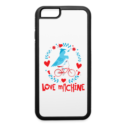 Love Machine Bird Riding Bicycle - iPhone 6/6s Rubber Case