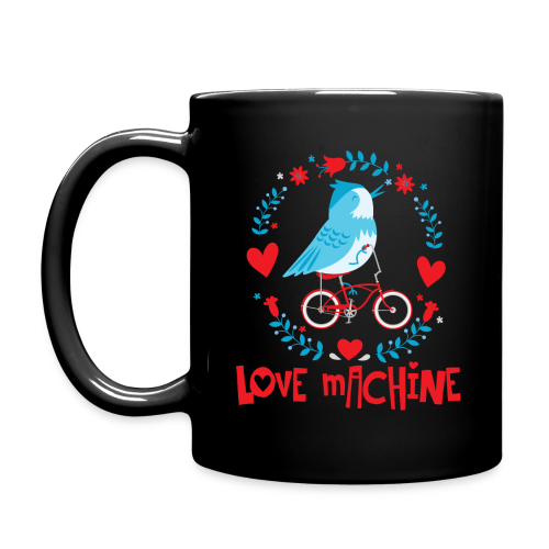 Love Machine Bird Riding Bicycle - Full Color Mug