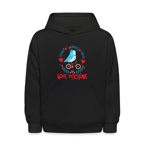 Love Machine Bird Riding Bicycle - Kids' Hoodie
