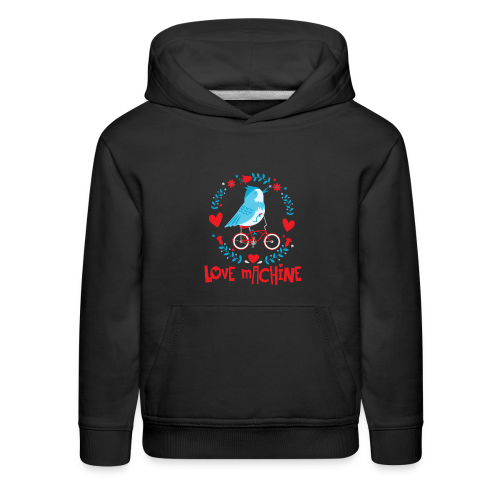 Love Machine Bird Riding Bicycle - Kids' Premium Hoodie