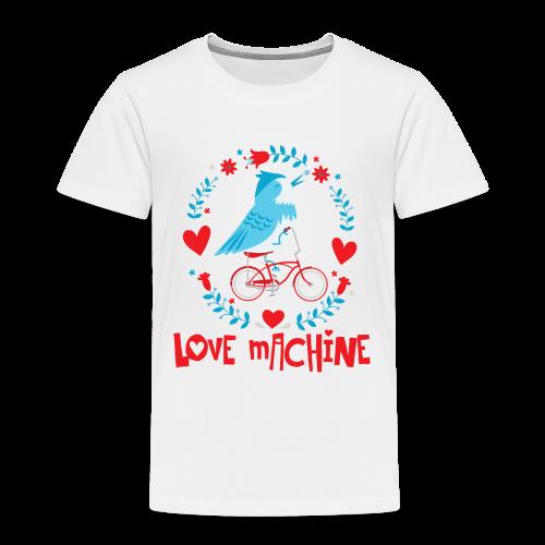 Love Machine Bird Riding Bicycle - Toddler Premium T-Shirt