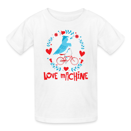 Love Machine Bird Riding Bicycle - Kids' T-Shirt