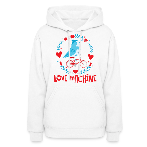 Love Machine Bird Riding Bicycle - Women's Hoodie