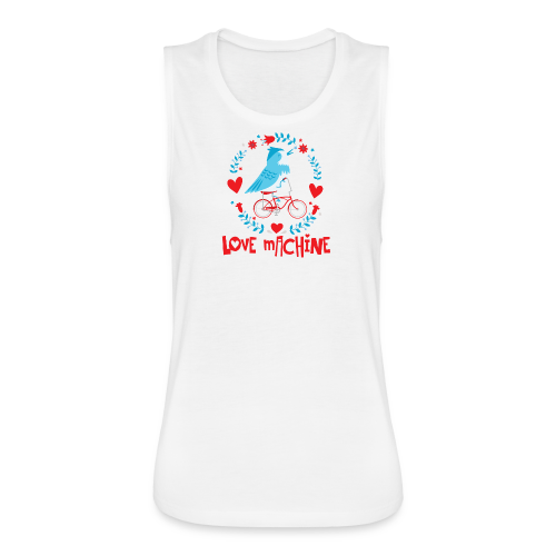 Love Machine Bird Riding Bicycle - Women's Flowy Muscle Tank by Bella