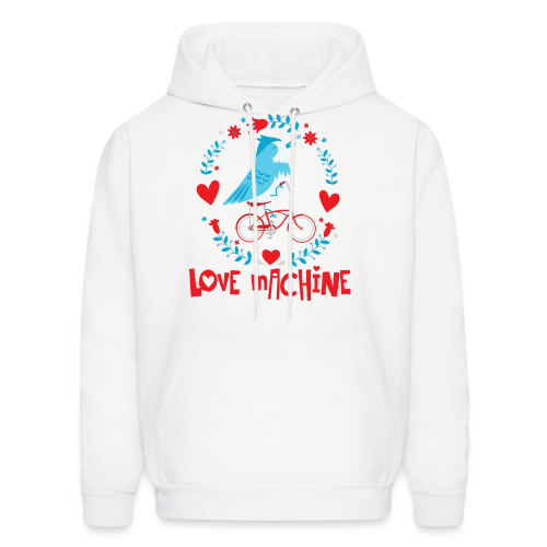 Love Machine Bird Riding Bicycle - Men's Hoodie