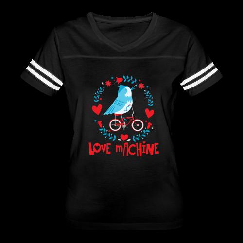 Love Machine Bird Riding Bicycle - Women's Vintage Sport T-Shirt