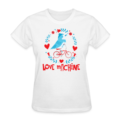 Love Machine Bird Riding Bicycle - Women's T-Shirt