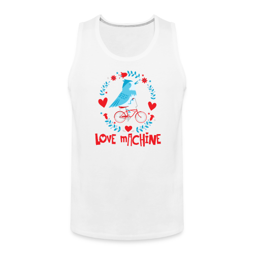 Love Machine Bird Riding Bicycle - Men's Premium Tank