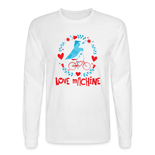 Love Machine Bird Riding Bicycle - Men's Long Sleeve T-Shirt