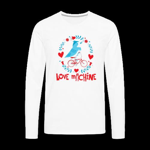 Love Machine Bird Riding Bicycle - Men's Premium Long Sleeve T-Shirt