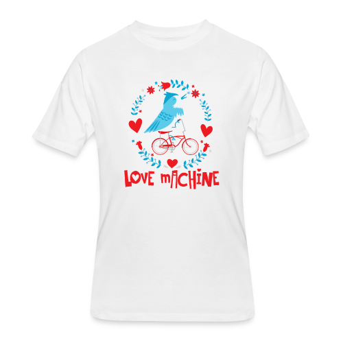 Love Machine Bird Riding Bicycle - Men's 50/50 T-Shirt