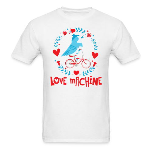 Love Machine Bird Riding Bicycle - Men's T-Shirt