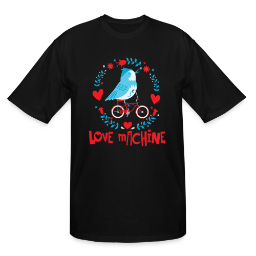 Love Machine Bird Riding Bicycle - Men's Tall T-Shirt