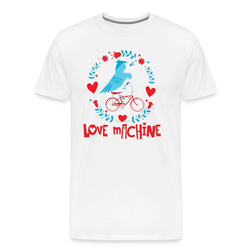 Love Machine Bird Riding Bicycle - Men's Premium T-Shirt