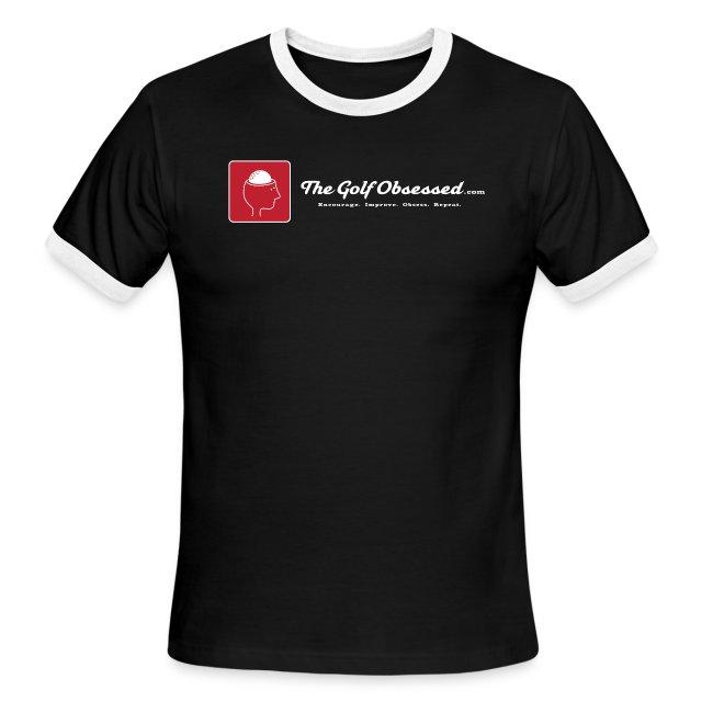 LG Logostrip V3 black ringer t-shirt