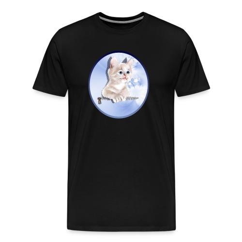 Sweet Pocket Kitten Oval - Men's Premium T-Shirt