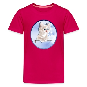 Sweet Pocket Kitten Oval - Kids' Premium T-Shirt
