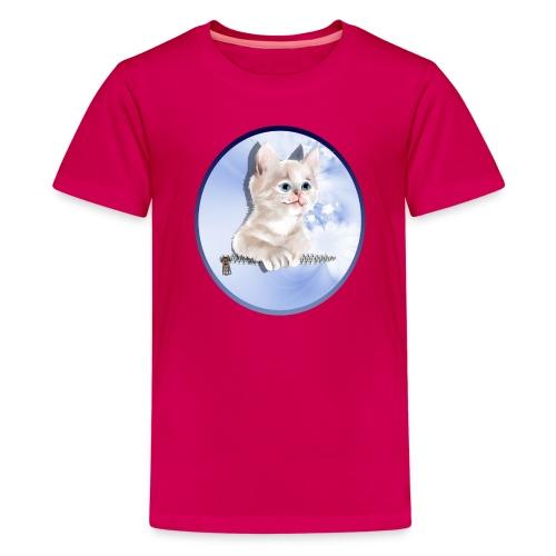 Sweet Pocket Kitten Oval - Kids' Premium T-Shirt