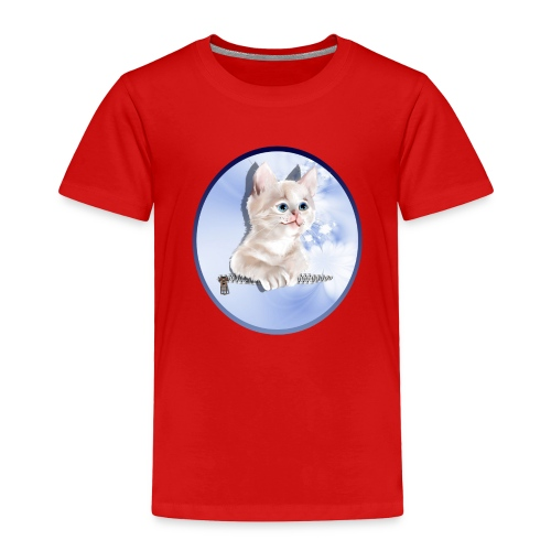 Sweet Pocket Kitten Oval - Toddler Premium T-Shirt
