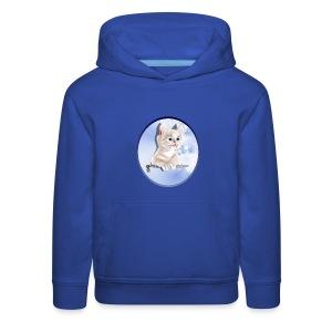 Sweet Pocket Kitten Oval - Kids' Premium Hoodie