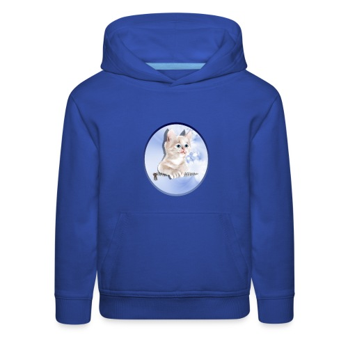 Sweet Pocket Kitten Oval - Kids' Premium Hoodie