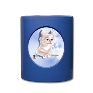 Sweet Pocket Kitten Oval - Full Color Mug