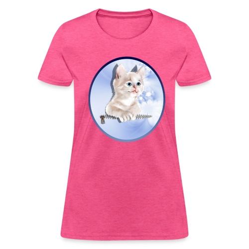 Sweet Pocket Kitten Oval - Women's T-Shirt