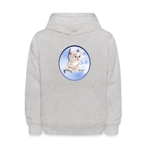 Sweet Pocket Kitten Oval - Kids' Hoodie