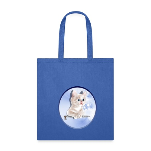 Sweet Pocket Kitten Oval - Tote Bag