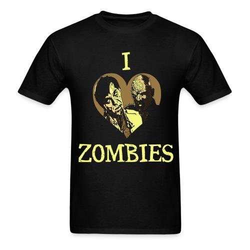 I Love Zombies Version 2 - Men's T-Shirt