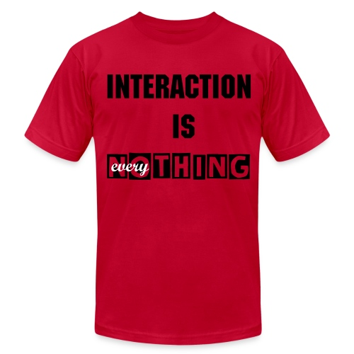 Interaction is Nothing - Men's Fine Jersey T-Shirt