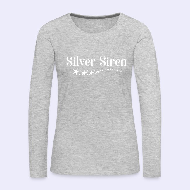 3f935ab32eaf Gray Hair Tees Tanks and Tops | Silver Siren Stars Premium Long ...