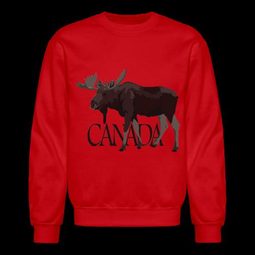 Canada Moose Souvenir Sweatshirt Men's  - Crewneck Sweatshirt