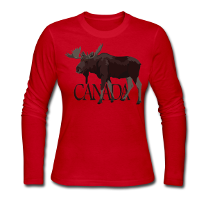 Canada Moose Souvenir Shirts Women's Long Sleeve - Women's Long Sleeve Jersey T-Shirt