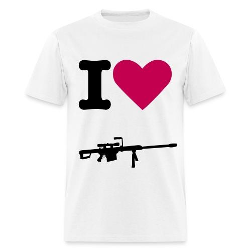 i heart sniping tee - Men's T-Shirt