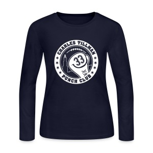 Charles Tillman PUNCH CLUB (#33) - Women's Long Sleeve Jersey T-Shirt