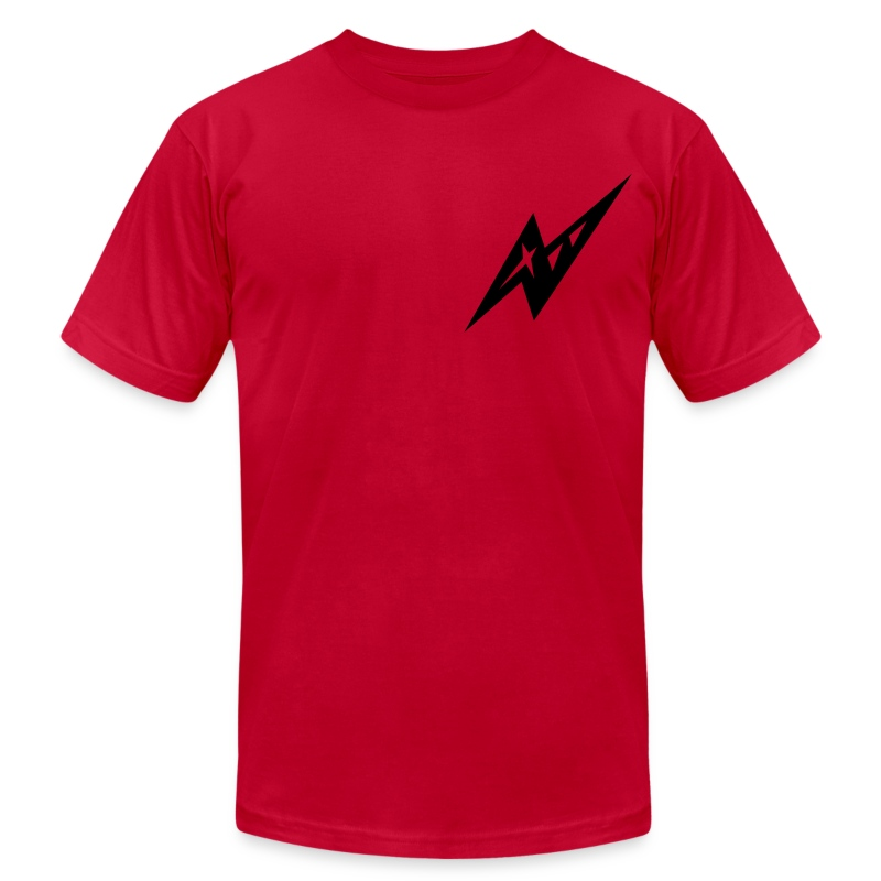 Red Slicer - Men's T-Shirt by American Apparel