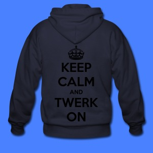 Keep Calm And Twerk On Zip Hoodies/Jackets - Men's Zip Hoodie