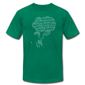 It's Easier to Fool - Mark Twain - Men's T-Shirt by American Apparel