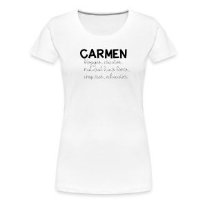 Custom Name Tee - Women's Premium T-Shirt