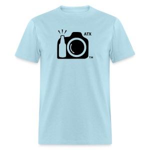 Men's Standard Weight T-Shirt ATX Initials on Logo - Men's T-Shirt