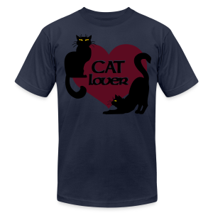 Cat Lover Shirts Men's Shirts Cat T-shirt - Men's T-Shirt by American Apparel